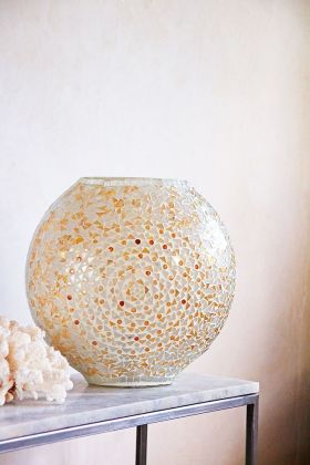 Lifestyle image of the Mosaic Vase Table Lamp