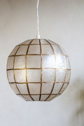 Image of the Mother Of Pearl Sphere Pendant Ceiling Light