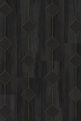 NLXL MRV-19 Vintage Diamond Webbing Wallpaper by Mr & Mrs Vintage - Black - ROLL
