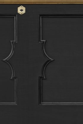 NLXL MRV-24 Wainscoting Panel Border Wallpaper by Mr & Mrs Vintage - Black - ROLL