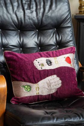 Image of the Mythical Reaching Hands Cushion