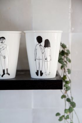 Image of the Naked Couple Cheeky Bottom Handleless Mug / Cup