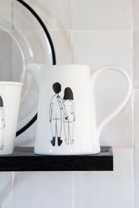 Image of the Naked Couple Cheeky Bottom Jug