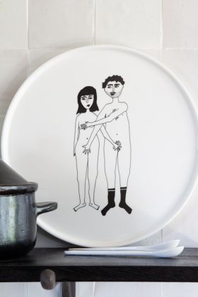 Image of the Naked Couple Modesty Plate