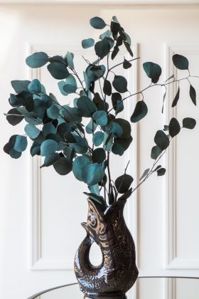 Image of the Natural Eucalyptus Stem - Teal in a Gluggle Jug