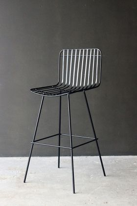 Nero Black Metal Bar Stool angle lifestyle image
