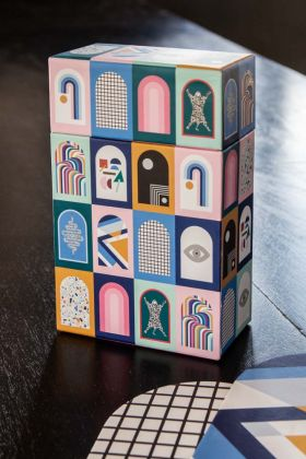 Lifestyle image of the Now House By Jonathan Adler Memory Game