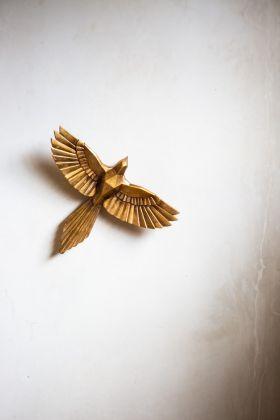 Image of the Origami Style Eagle Wall Decoration on the wall