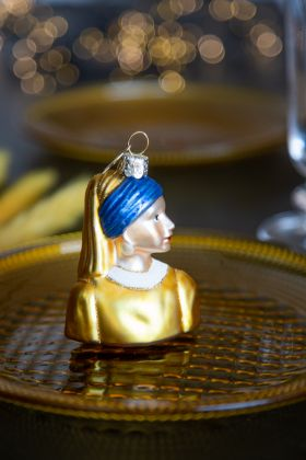 Image of the Girl With The Pearl Earring Christmas Tree Decoration