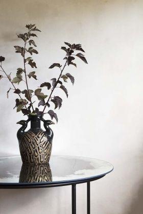 Lifestyle image of the Beautiful Peacock Art Nouveau Vase