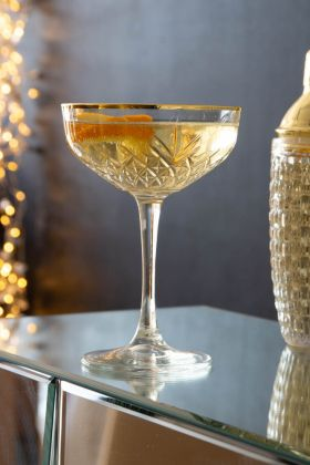 Lifestyle image of the Pikes at Rockett St George Champagne Cocktail Glass