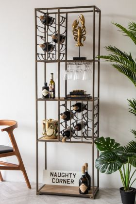 Practical & Perfect Wine Storage Shelf Unit
