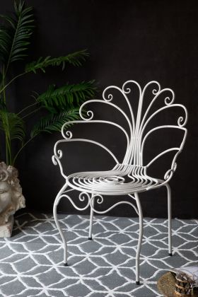Image of the Pretty White Peacock Chair
