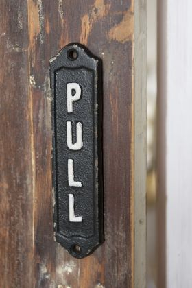 Image of the PULL Metal Sign