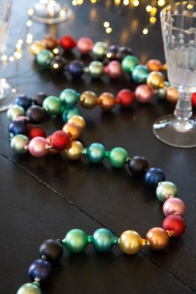 Rainbow Bauble Garland