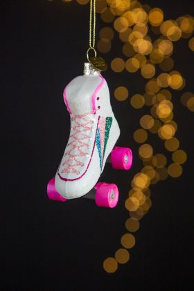 Rainbow Roller Skate Christmas Tree Decoration