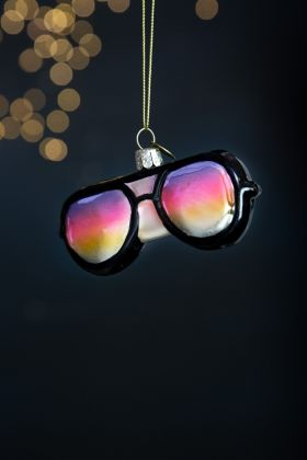 Rainbow Sunglasses Christmas Tree Decoration