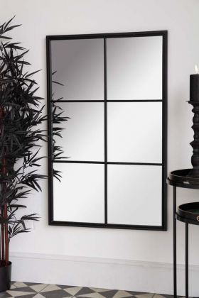 Lifestyle image of the Rectangular Windowpane Mirror