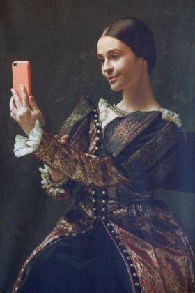 Image of the Regal Selfie Velvet Wall Art