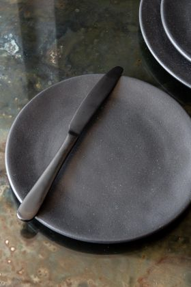 Image of the Roda Matt Black Stoneware Side Plate