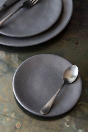 Image of the Roda Matt Black Stoneware Small Side Plate