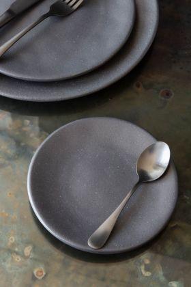 Roda Matt Black Stoneware Small Side Plate