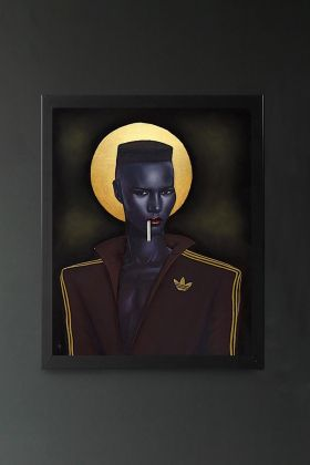 Image of the Ross Muir Limited Edition Amazing Grace Art Print in a black frame
