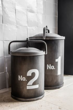 Image of the Set Of 2 No.1 & No.2 Storage Tins with their lids on