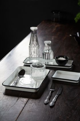 Image of all three French-Style Accessory Enamel Trays