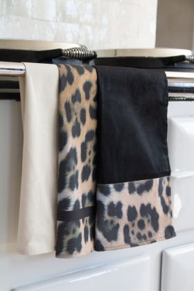 Set Of 3 Leopard Print Tea Towels