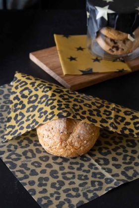 Image of the Set Of 3 Rockett St George Beeswax Food Wraps in use