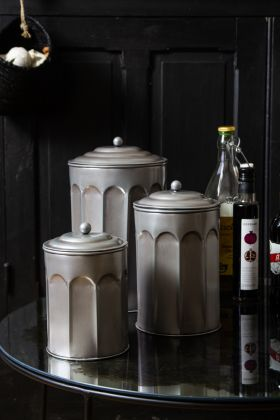 Set Of 3 Storage Pots With Lids