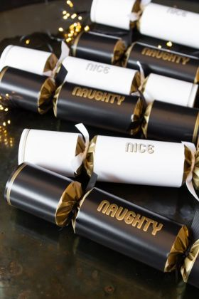 Image of the Set Of 6 Naughty & Nice Luxury Christmas Crackers