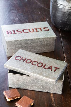 Image of the Set Of 2 Biscuit & Chocolate Tins