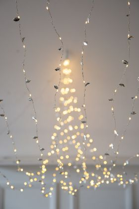 Silver Leaf Light Chain Spray