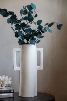 Lifestyle image of the Square Ceramic Vase