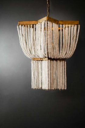 Star Shaped Beaded Statement Chandelier Light