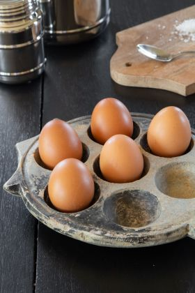 Lifestyle image of the Stone Egg Holder For 7 Eggs