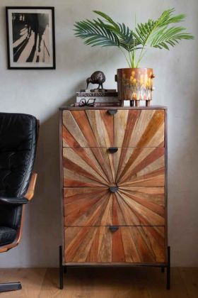 Lifestyle image of the Sunburst Sustainable 4-Drawer Chest Of Drawers