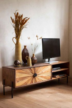Sunburst Sustainable Wood TV Stand