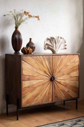 Lifestyle image of the Sunburst Sustainable Wood Sideboard Cupboard