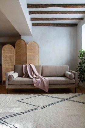 Lifestyle image of the Taupe Grey Danish Design 3 Seater Sofa