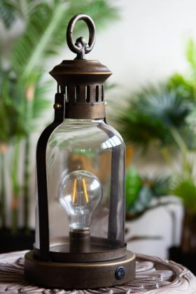 Image of the Traditional Lantern Battery Operated Table Lamp
