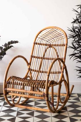 Image of the Traditional Rattan Rocking Chair