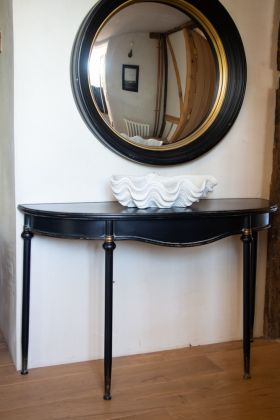 Traditional-Style Black Metal Console Table