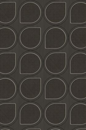 NLXL VOS-13 Vintage Drops Webbing Wallpaper by Studio Roderick Vos - Black - ROLL