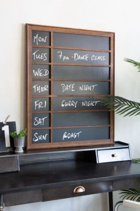Lifestyle image of the Weekly Planner Chalk Board