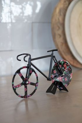 Image of the Wild Rose Fixie Bicycle Pizza Cutter