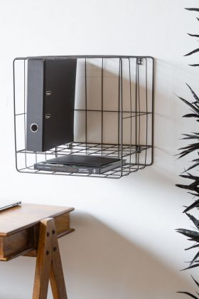 Wirework File Storage Wall Shelf Unit