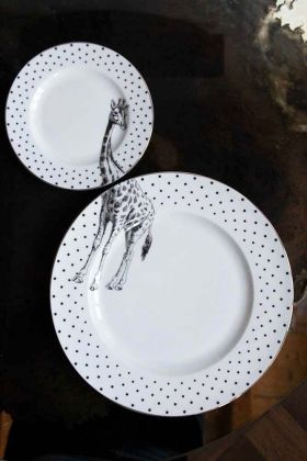 Image of the Giraffe Dinner & Side Plate Set